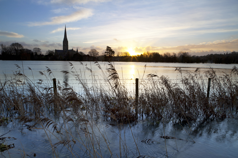 Salsibury Cathedral Floods
