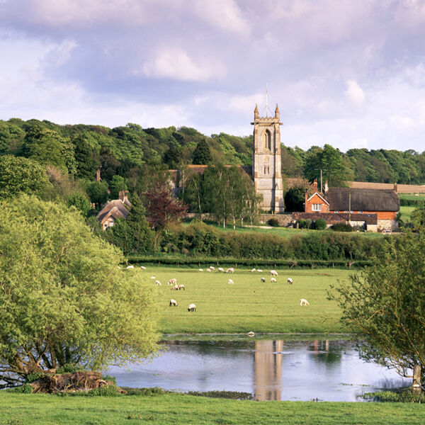 West Overton and the River Kennet, Wiltshire