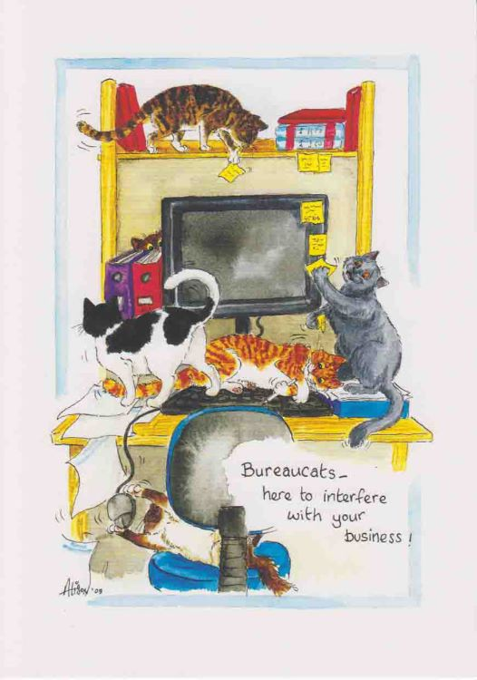 AC104 - Bureaucats - here to interfere with your business!