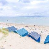 Beach Huts and summer beach activities