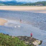 Beach and rock fishermen