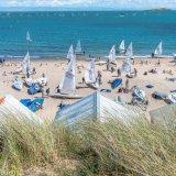 Sail boat beach