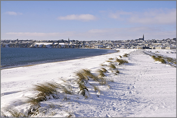 Tramore Strand in the Snow.