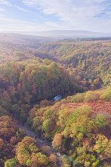Autumn along the Afon Mellte, Brecon Beacons, Wales.