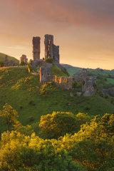 Corfe Castle, late Spring, Dorset, England