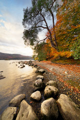 Autumn, Derwent Water, Lake District, England.