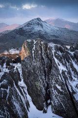 Yr Aran from Snowdon, Wales.