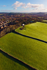 Farm fields, Bettws, Newport City, Wales
