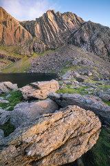 Boulder field, Clogwyn dur arddu, Snowdonia, Wales.