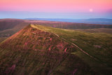 Cribyn moonrise, from Pen Y Fan, Brecon Beacons, Wales.