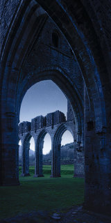 Llantony Priory, Vale of Ewyas, Black Mountains, Brecon Beacons, UK. **