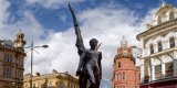 Commercial Street Statues, Newport City, Wales.