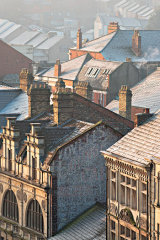 Frosted rooftops, Newport City, Wales.
