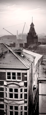 WInter rooftops, Newport City, Wales.