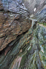 Rock striations, Pembrokeshire, Wales, UK.