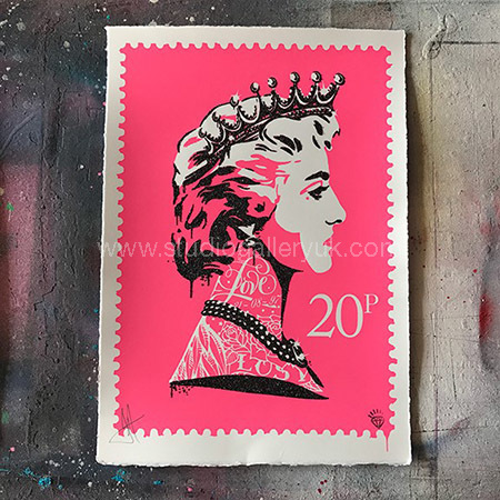 'Princess Diana Stamp' Pink <span style=