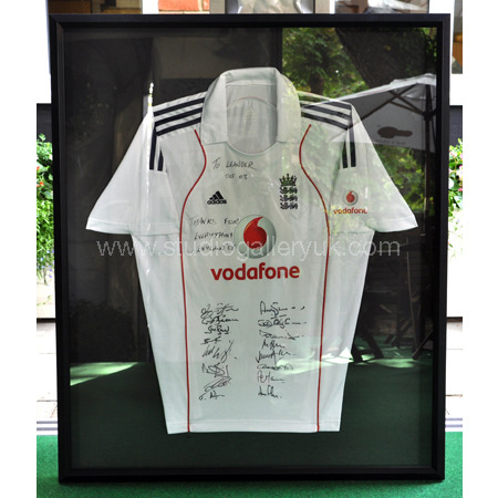 Signed England Cricket Shirt 2008