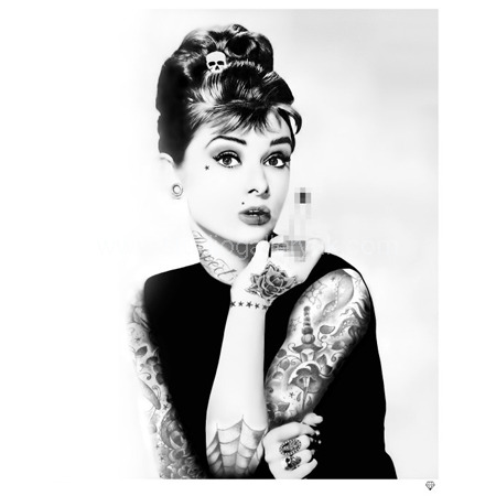 """'Audrey Hepburn Tattoo' <span style=""""color:#ff0000;"""">SOLD</span>"""