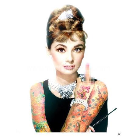 'Audrey Hepburn Tattoo ~ Colour' <span style=