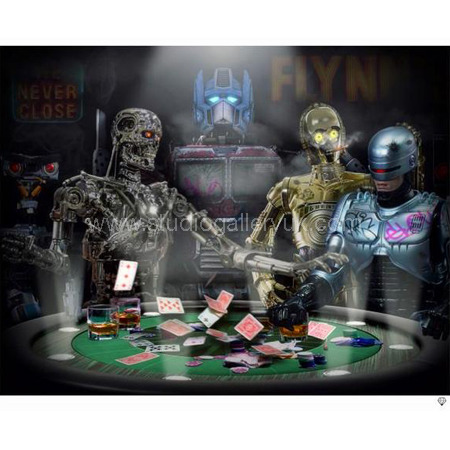 'Droids Playing Poker' <span style=