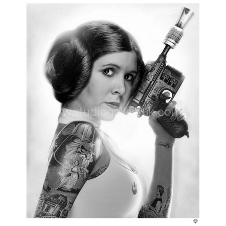 'Princess Leia Tattoo' <span style=&quot;color:#ff0000;&quot;>SOLD</span>