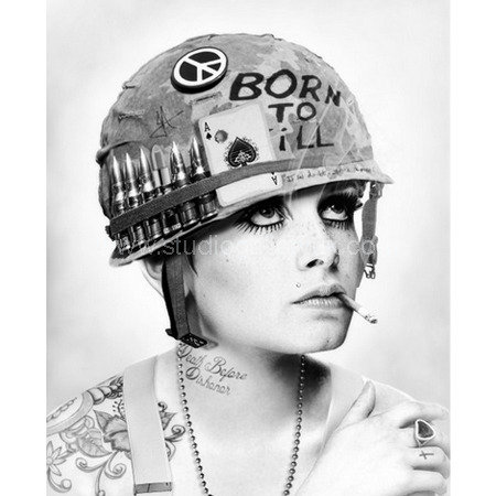 'Full Metal Twiggy' (B&amp;W) <span style=&quot;color:#ff0000;&quot;>SOLD</span>