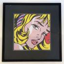 'Girl with Ribbon' - framed