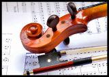 Violin Scroll & Music
