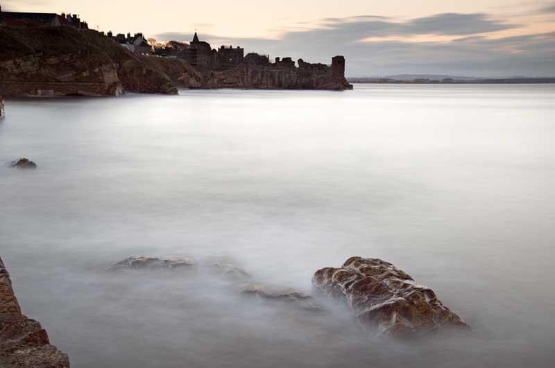 Nightfall on St Andrews castle003
