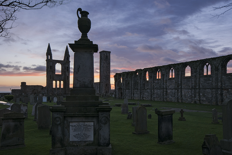 St Andrews cathedral sunrise0009