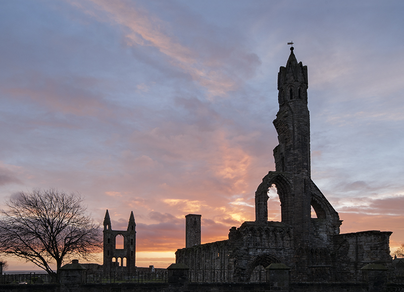 St Andrews cathedral sunrise0033
