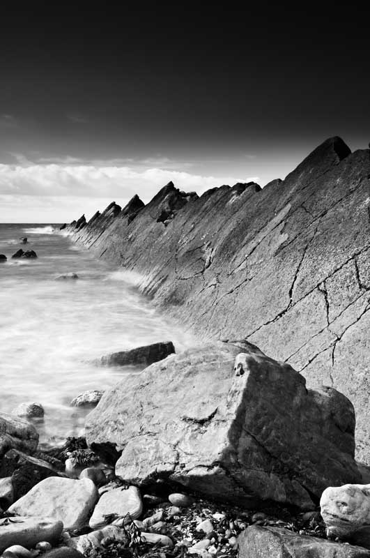 St Monans rocks0018b&w