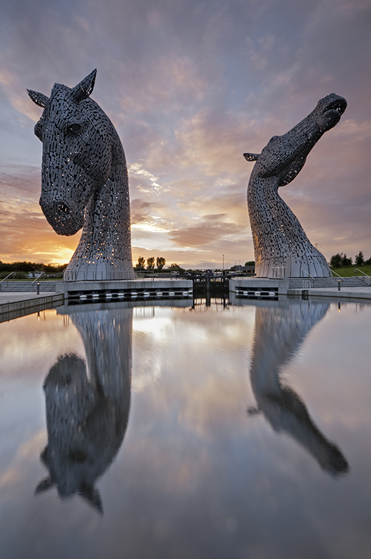 Kelpies sunset0148