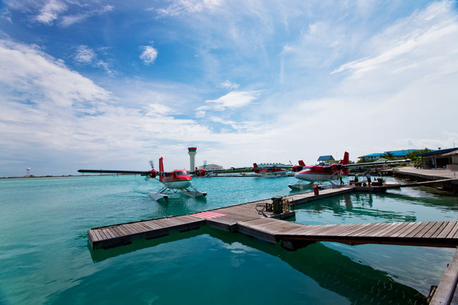 Seaplanes at Male Airport