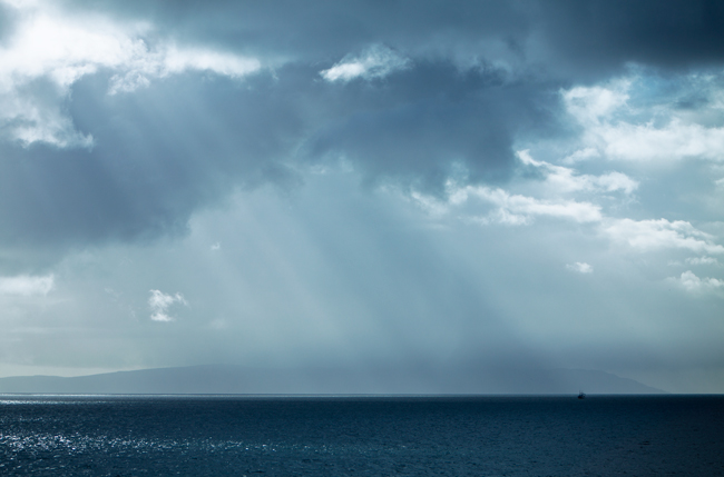 Sunbeams on the Sound of Gigha
