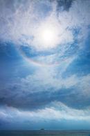 Island, Clouds, Sun & Halo