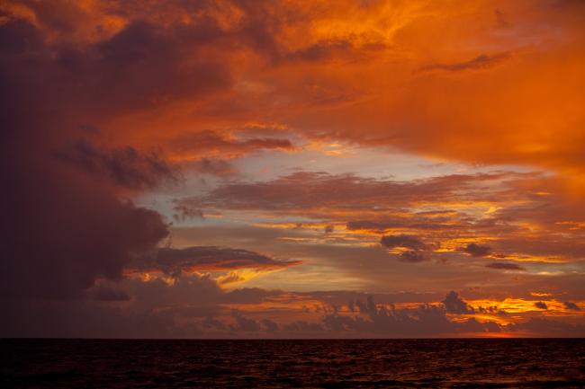 Burning Sunset I