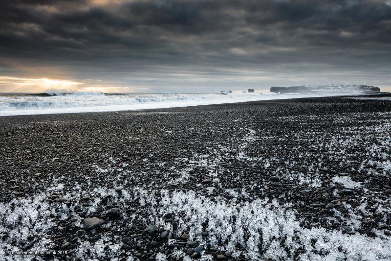 Black Beach Ice II