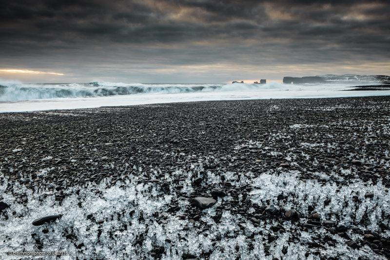 Black Beach Ice III