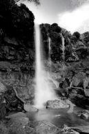 Brecon Waterfall B&W