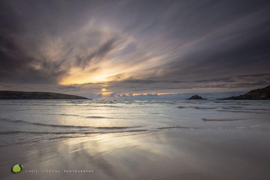 Crantock Sundown Halo & Reflections