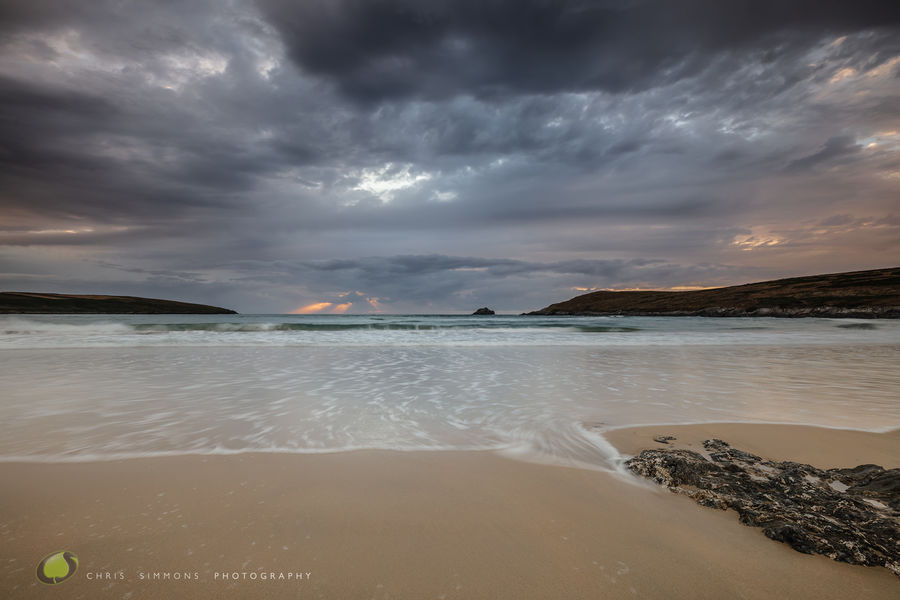 Crantock Turning Tide Dusk