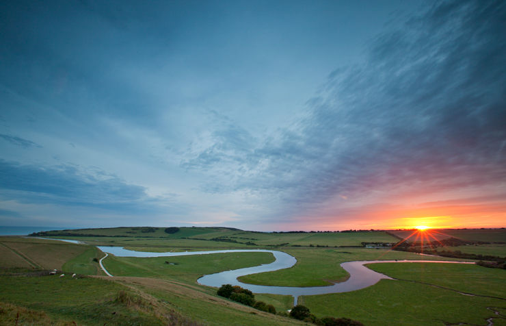 Cuckmere Haven at Sunset