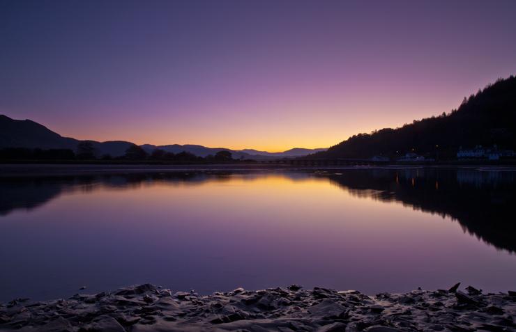 Approaching dawn on the Mawddach Estuary