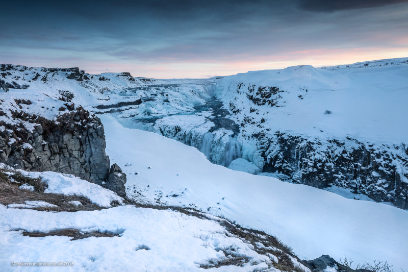 Frozen Falls Sunrise