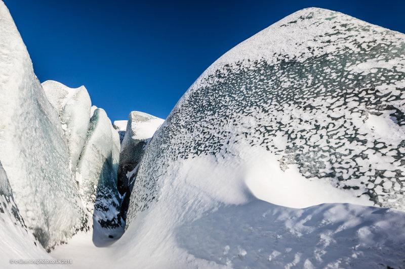 Glacier Ice 'Drumlins'
