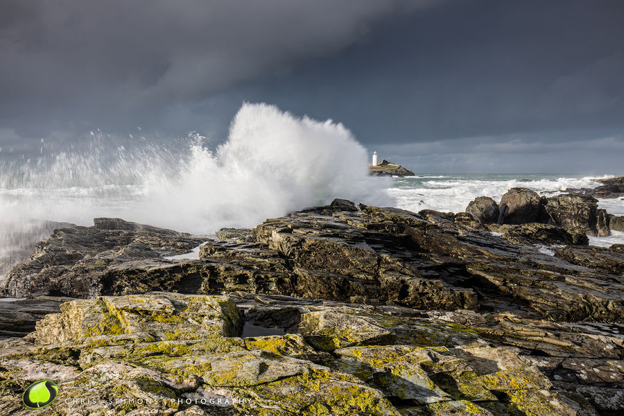 Godrevy Lighthouse Storm - rev