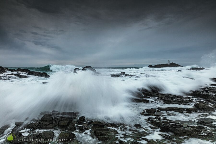 Godrevy Rocks Squall