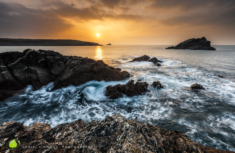 Goose Rock Winter Sundown III - rev