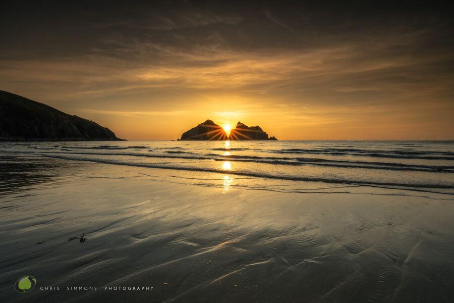 Gull Rocks, Spring Amber Tideline - rev